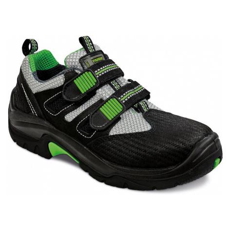 Černé pracovní obuv