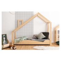 Domečková postel z borovicového dřeva Adeko Luna Adra, 90 x 180 cm