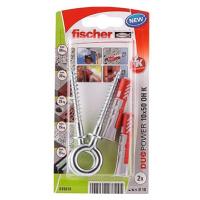 fischer DUOPOWER 10 x 50 univerzální hmoždinka + vrut s okem