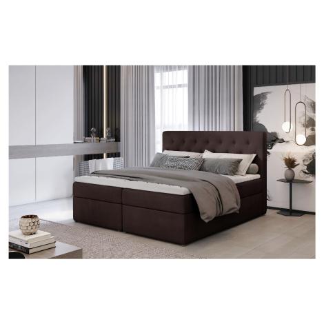 ELTAP Čalouněná postel LOREE Boxsprings 160 x 200 cm Provedení: Monolith 29