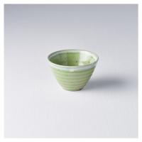 Malá miska 9 cm 150 ml zelená s bílým okrajem MIJ