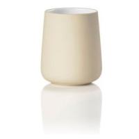 Béžový porcelánový kelímek na zubní kartáčky Zone Nova