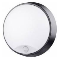 Venkovní nástěnné LED osvětlení s PIR detektorem Megatron Bulka MT69040, 10 W, N/A, černá