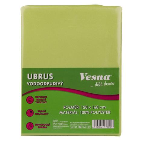 Ubrus 120x160 vodoodpudivá úprava sv. zelená VESNA