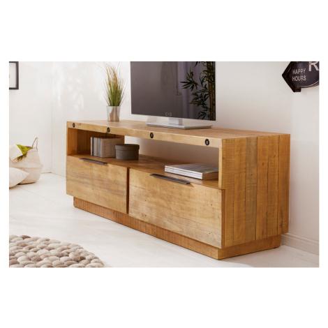 LuxD Designový TV stolek Harlow 150 cm přírodní - borovice