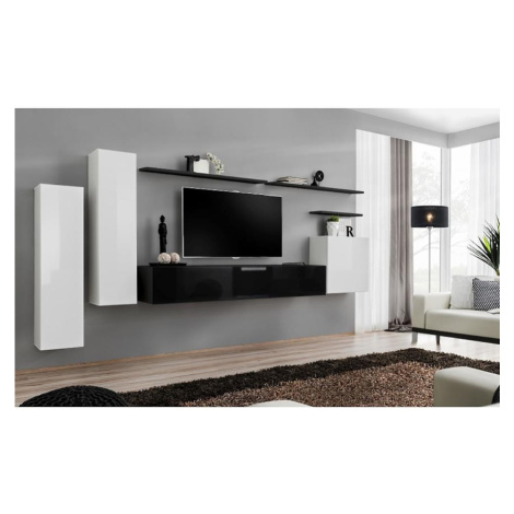 Obývací Stěna Switch I Bílý/Černá BAUMAX