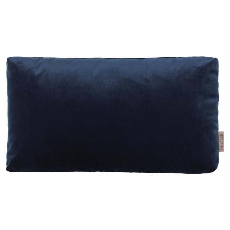 Tmavě modrý povlak na polštář se sametovým efektem Blomus, 50 x 30 cm