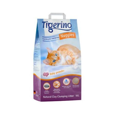 Kočkolit Tigerino Nuggies - Baby Powder - Výhodné balení 2 x 14 l