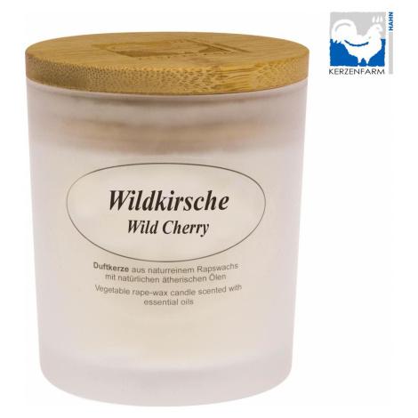 Kerzenfarm Přírodní svíčka Wild cherry, mléčné sklo 1 ks, 8 cm
