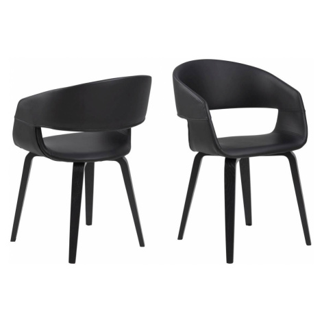 Dkton Designová židle Nere černá-topol