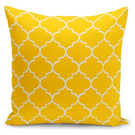 Žlutý polštář s výplní Jane, 43 x 43 cm Kate Louise