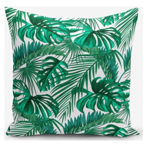 Povlak na polštář s příměsí bavlny Minimalist Cushion Covers Mint Green Kavanice, 45 x 45 cm