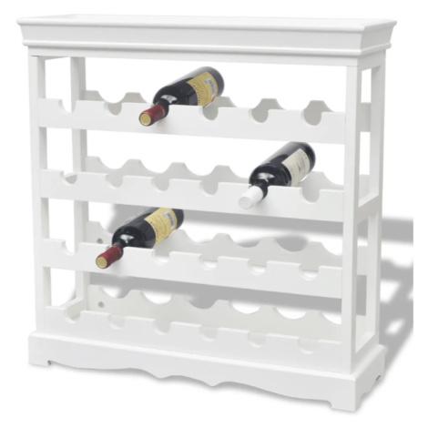 Stojan na víno MDF Dekorhome Hnědá / šedá vidaXL