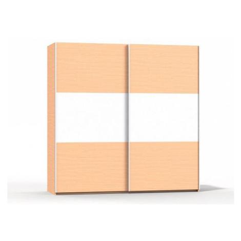 Šatní skříň Rea Houston 2 buk-bílá FOR LIVING