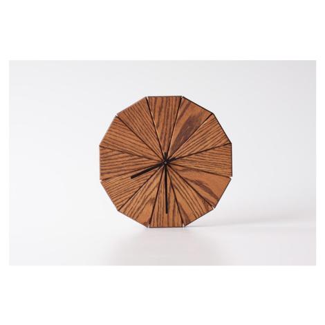 Dřevěné hodiny Triangle - Kohoutek Old Wood
