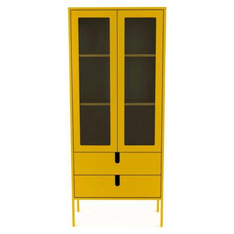 Žlutá vitrína Tenzo Uno, šířka 76 cm