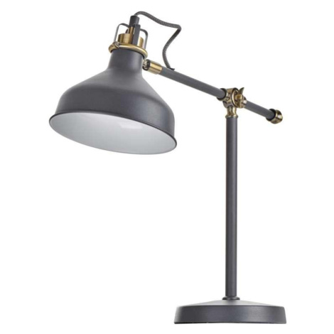 Emos Stolní svítidlo HARRY na žárovku E27, tmavě šedá Z7611