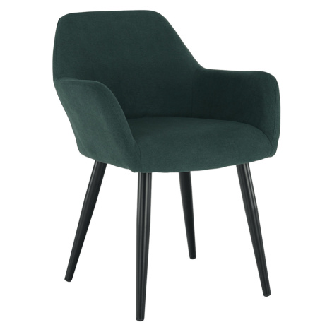 Designové křeslo, zelená/černá, LACEY