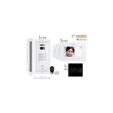 Kabelový domovní video telefon Bellcome VKA.P3FR.T7S9.BLW04, bílá