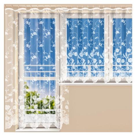 Hotová žakárová záclona DEBORA - balkonový komplet Polontex