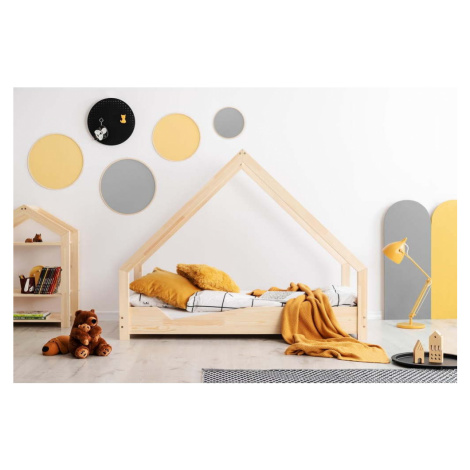 Domečková dětská postel z borovicového dřeva Adeko Loca Ana, 80 x 180 cm