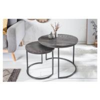 LuxD Set konferenčních stolků Factor šedé mango - 2 ks