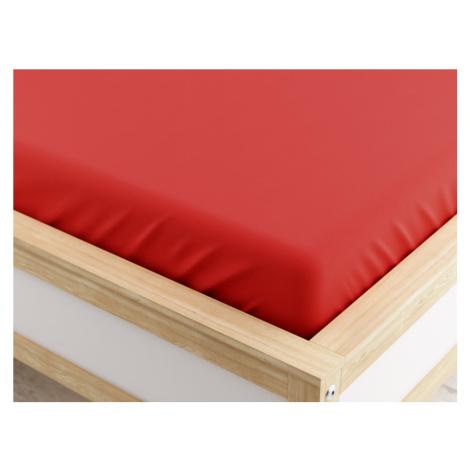 Jersey prostěradlo červené 200 x 220 cm