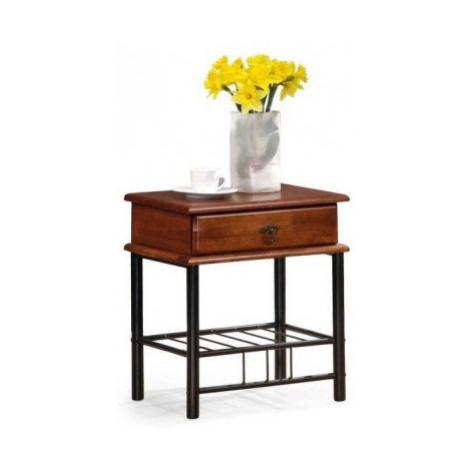 Noční stolek fiona (antická třešeň, černá) Halmar