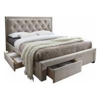 Manželská postel PREMIUM 160 x 200 šedohnědá