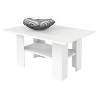 Konferenční stolek 87x60 cm v bílé barvě s odkládací poličkou typ H43 KN835