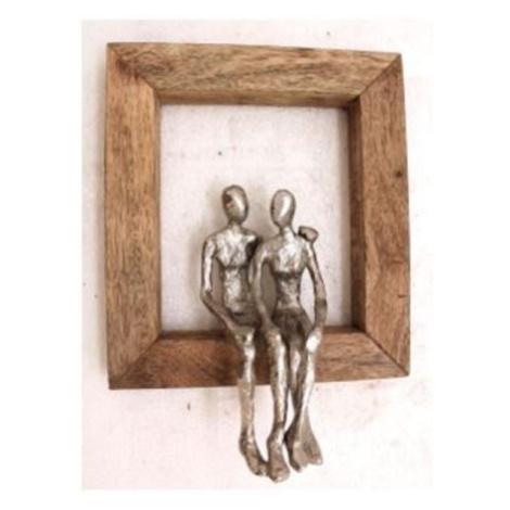 Nástěnná dekorace Muž a žena v objetí 30cm