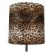 Stojací lampa černý odstín leopardí design 40 cm - Simplo