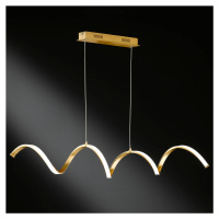 Wofi Stropní LED světlo Russell ve zlatém odstínu