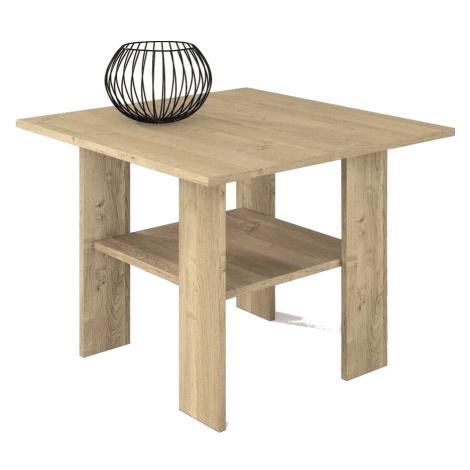 Konferenční stolek 65x65 cm v dekoru dub sonoma s odkládací poličkou typ H50 KN835