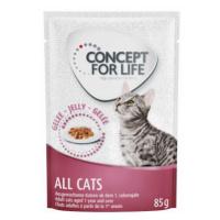 Míchané výhodné balení Concept for Life želé & omáčka 24 x 85 g - All Cats 10+ v omáčce a želé
