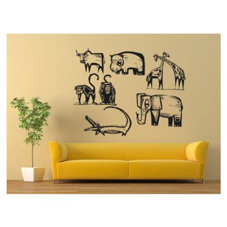 Samolepka na zeď Africká zvířata 001