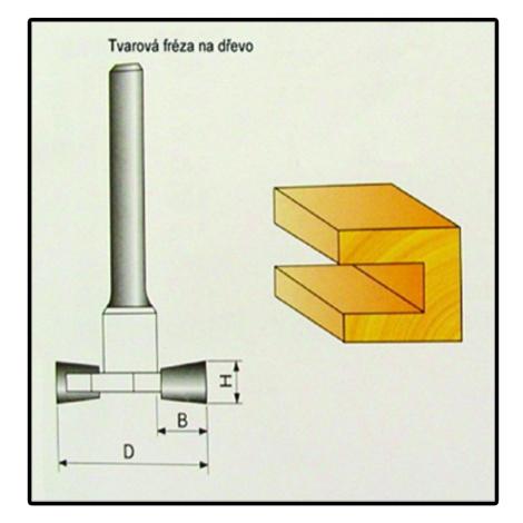 Fréza tvarová do dřeva F17 - 8x9,4mm Stavtool