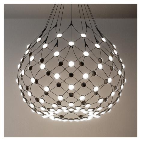 Luceplan Luceplan Mesh LED závěsné světlo Ø 80cm 3m závěs