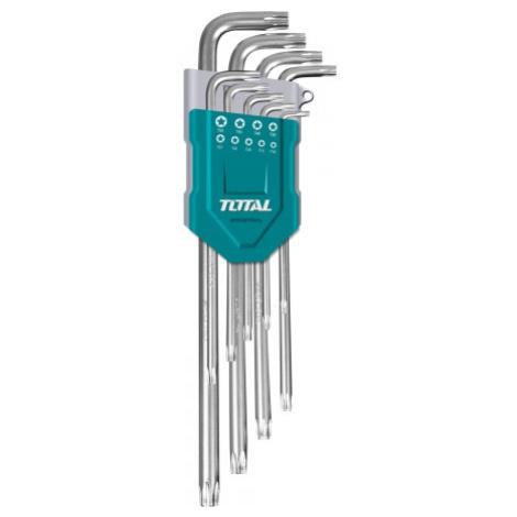 Total THT106392 L-klíče TORX, sada 9ks, 10-50mm, prodloužené, CrV, industrial