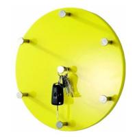 Nástěnný věšák Itab, 35 cm, žlutá