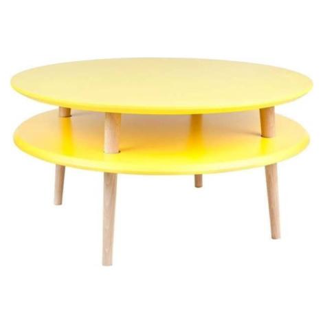 Žlutý konferenční stolek Ragaba UFO, ⌀ 70 cm