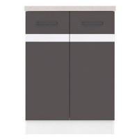 JUNONA LINE, skříňka dolní 60 cm, wolfram šedý