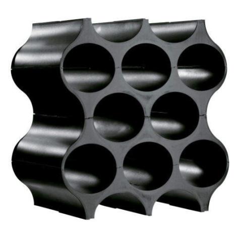 Stojan na lahve plastový SET-UP na 10 lahví černý 36cm Koziol