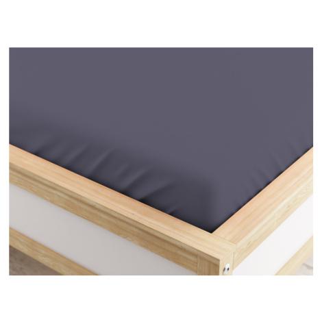 Jersey prostěradlo MICRO tmavě šedé 180 x 200 cm