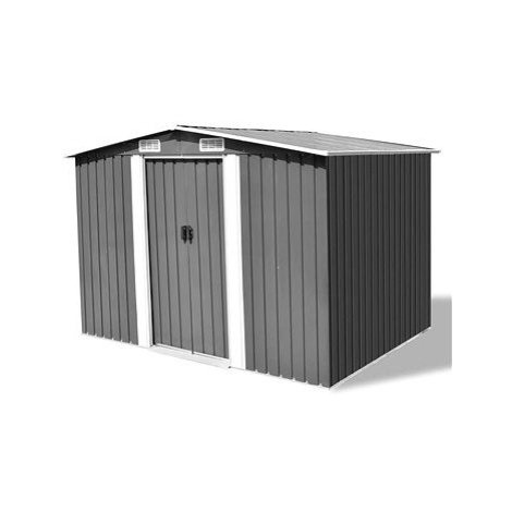 Zahradní domek na nářadí šedý kovový 257 x 205 x 178 cm SHUMEE