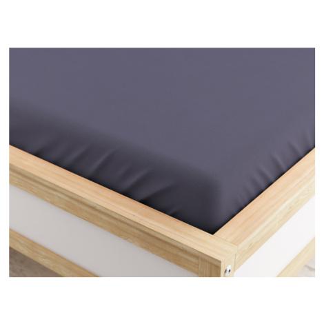 Froté prostěradlo tmavě šedé 90x200 cm Gramáž (hustota vlákna): Lux (190 g/m2)