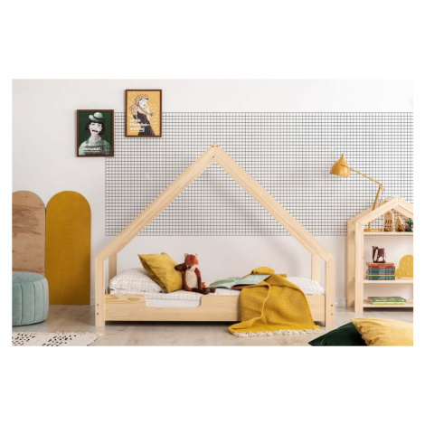 Domečková dětská postel z borovicového dřeva Adeko Loca Cassy, 80 x 160 cm