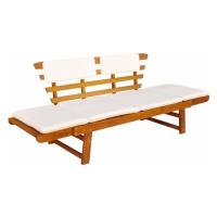 Zahradní lavička s polštářky