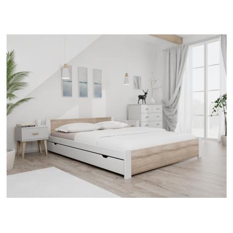 Maxi Drew Postel IKAROS 160 x 200 cm, bílá Rošt: S lamelovým roštem, Matrace: Matrace Coco Maxi  Maxi-drew