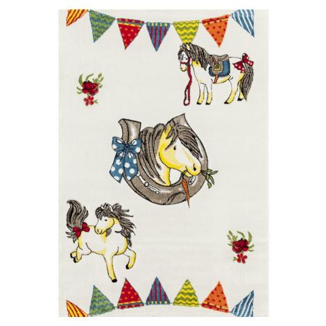 Dětský kusový koberec Momo K11569-01 | béžový Typ: 133x190 cm
